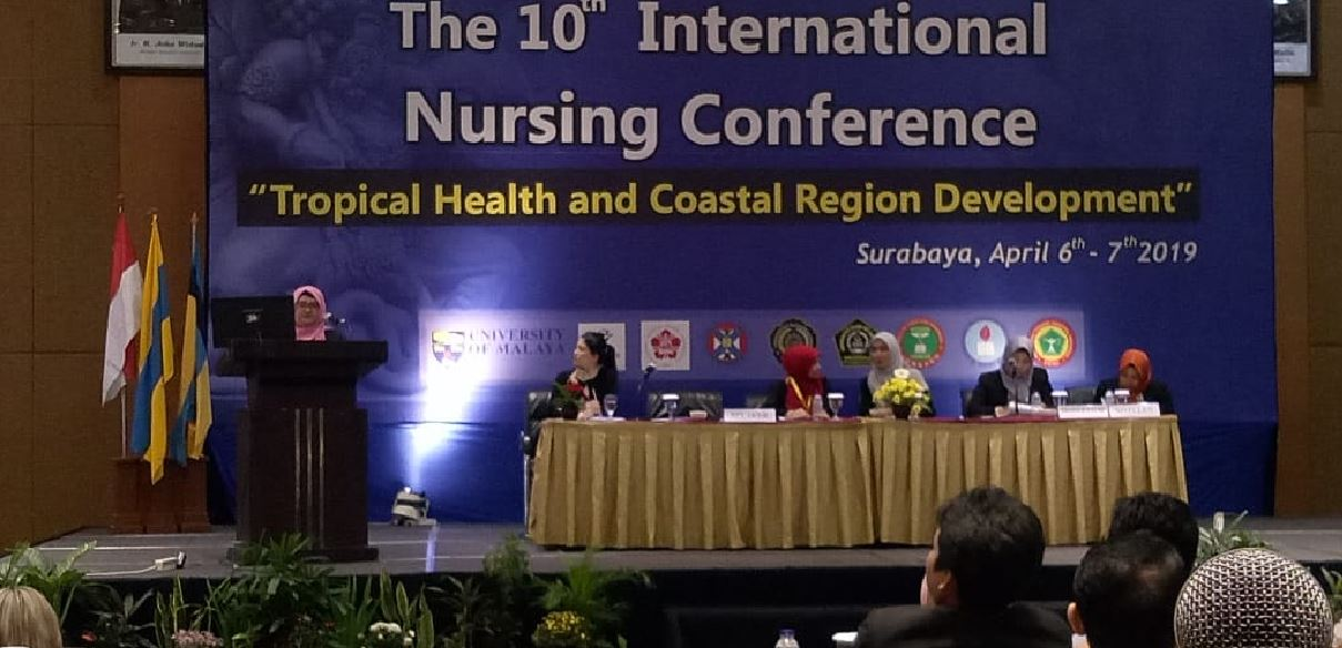 Sambutan Ibu Kaprodi pada The 10th International Nursing Conference sebagai Campus Partner